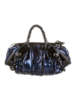 Tonal blue python Gucci Galaxy bag