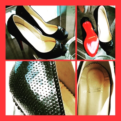 Christian Louboutin Sequin Very Prive Pumps